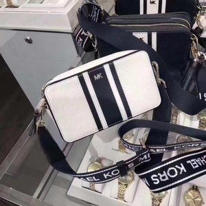 NWT Michael Kors Tri-Color Logo Leather Camera Bag